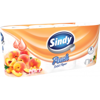 Sindy Peach 8 rolls 3-ply