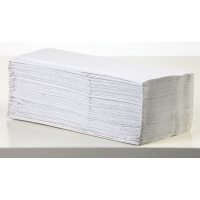 Z-fold white 20x200 sheets 1-ply