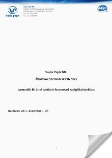 Szállítmányozási Általános Szerződéses Feltételek