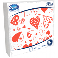 Ooops! Classic 20pcs 2-ply Napkin Designed 33x33 cm