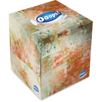 Ooops! Tissue in box, 54 pieces 3-ply, in 4 different designs