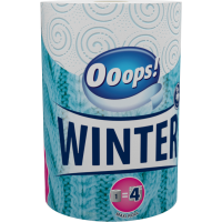 Ooops! WINTER paper towel (200 sheets, 2-ply)