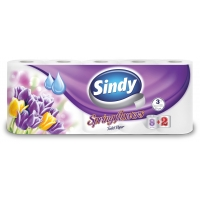 Sindy Spring Flowers 8+2 rolls 3-ply